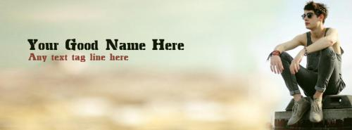 Dashing Boy FB Cover With Name
