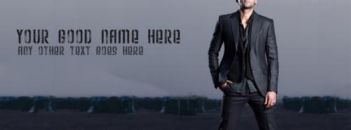 Dashing smart boy fb cover with name for Smart pic for facebook