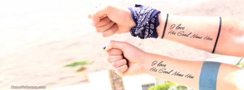 Expressing Love FB Cover With Name