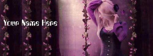 Fantasy Girl FB Cover With Name