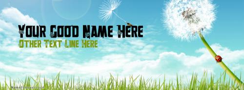 free summer fb cover with name