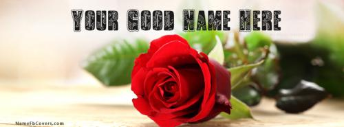 Fresh Rose Beautiful Art FB Cover With Name