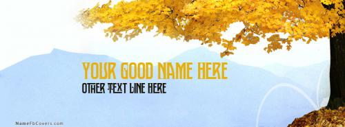 Fun Filled Autumn FB Cover With Name