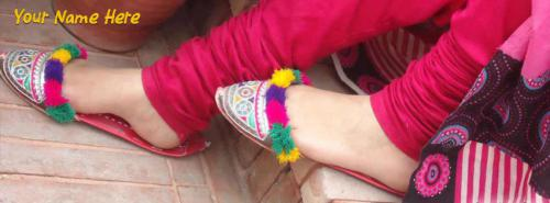Girls Feet FB Cover With Name