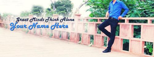 Great Minds Think Alone FB Cover With Name