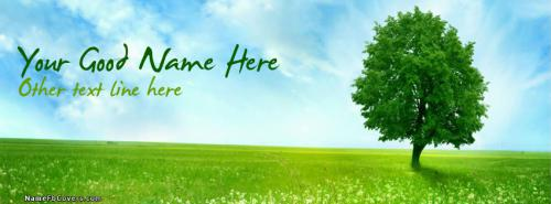Green Tree FB Cover With Name