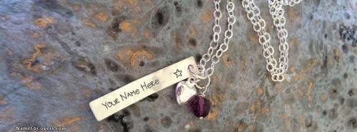 Heart Bar Necklace FB Cover With Name
