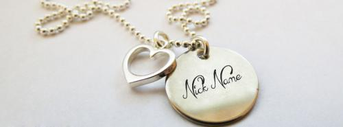 Nick Heart Necklace FB Cover With Name