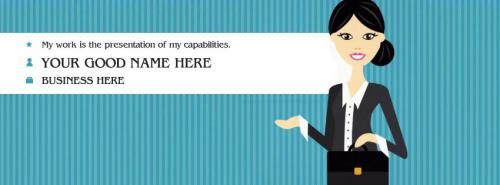 I am a Business Woman FB Cover With Name