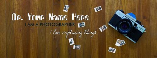 I am a Photographer FB Name Cover - Profession Facebook Covers
