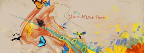 I am Colorful FB Cover With Name