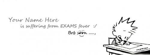 Exams Fever Suffering From Exams Fever