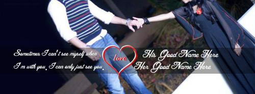 I can only just see you FB Cover With Name