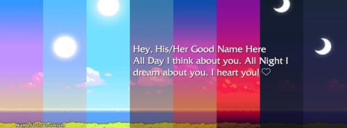 I think about you FB Cover With Name