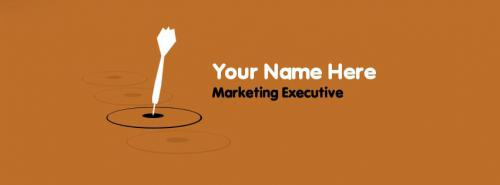 Marketing Executive FB Cover With Name