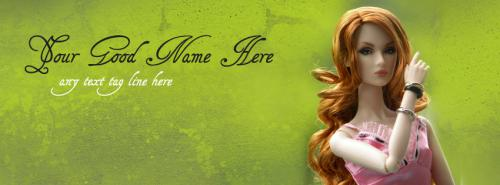 Most Beautiful Doll FB Cover With Name