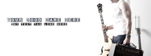Music is my Passion FB Cover With Name