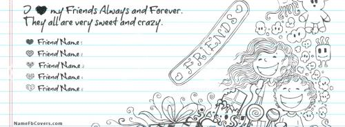 My Crazy Sweet Friends FB Cover With Name