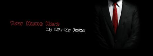 My Life My Rules FB Cover With Name