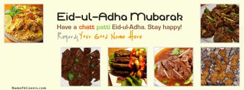 New Eid ul Adha Wishes FB Cover With Name