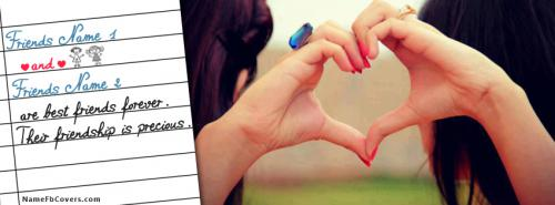 Our Friendship is Precious FB Cover With Name