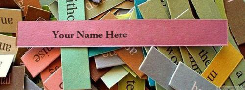 Paper Pieces FB Cover With Name