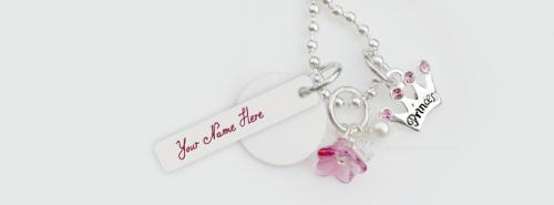 Princess Crown Neckalce FB Cover With Name