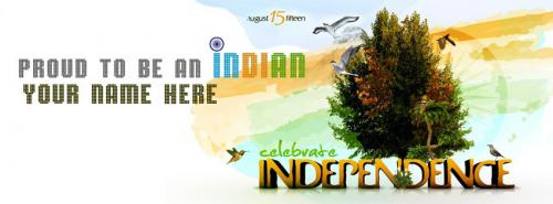 Proud To Be An Indian FB Cover With Name