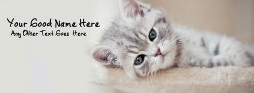 Sad Cat FB Cover With Name