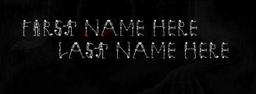 Scary Skelton FB Cover With Name