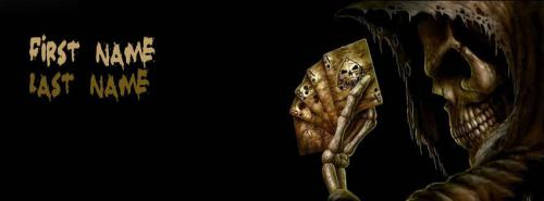 Scary Skull FB Cover With Name