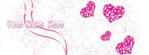 Scrap Bubbles and Hearts FB Name Cover - Simple Facebook Cover Photos