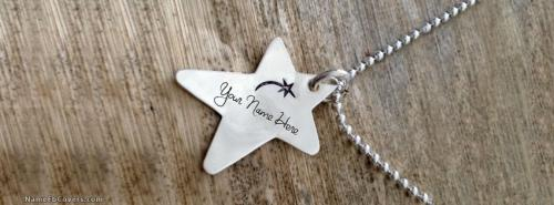 Star Wish Necklace FB Name Cover - Jewelry Facebook Covers