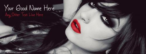 Stylish Fashion Girl FB Cover With Name