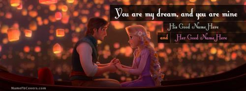 Tangled Romantic FB Cover With Name
