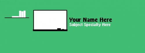 Teacher / Professor / Lecturer FB Cover With Name