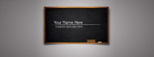 Teacher/Professor/Lecturer FB Cover With Name