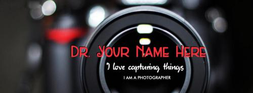 The Photographer FB Cover With Name