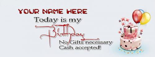 Today is my Birthday Facebook Cover