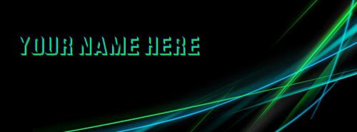 Vector Lights FB Cover With Name