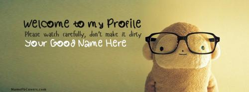 Welcome to my Profile FB Cover With Name