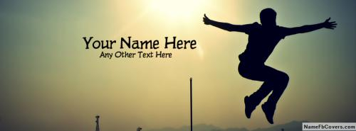 Jumping Boy FB Cover With Name