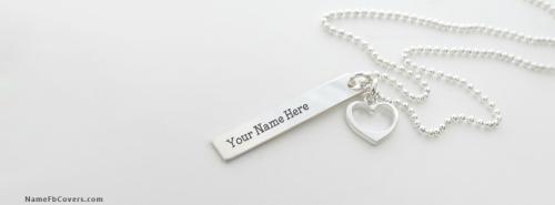 Light Sliver Necklace FB Cover With Name