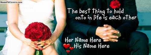 Love Me Forever FB Cover With Name