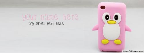 Penguin Cell Phone Case FB Cover With Name