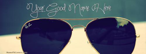 Ray Ban FB Name Cover - Glasses Facebook Covers