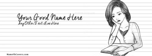 Name Facebook Covers For Girls - Sad Girl Studying