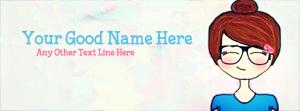 Attitude Cute Girl Name Facebook Cover