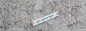 Awesome Cool Necklace Name Cover