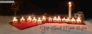 Awesome Happy Birthday Candles Name Cover